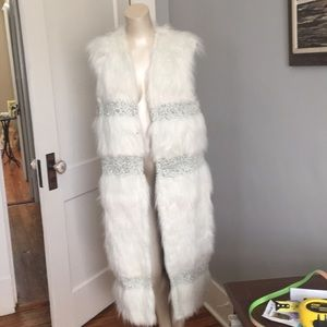 Brand new without tags free people faux fur vest